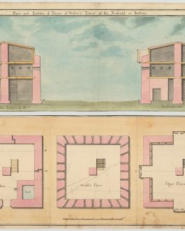 SOUTH AFRICA – CAPE TOWN FORTIFICATIONS – THE PRINCE OF WALES BLOCKHOUSE – ORIGINAL MANUSCRIPT PLANS