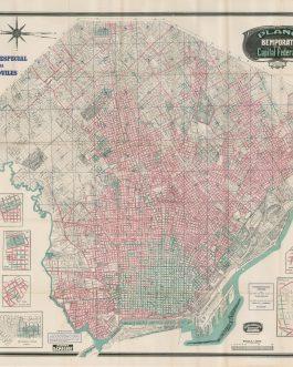 BUENOS AIRES, AREGENTINA: Plano Bemporat de la Capital. Plano Especial para Automóviles.