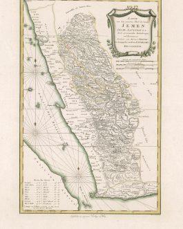 YEMEN. Karte von dem groessten Theil des Landes Jemen Imame, Kaukeban &c