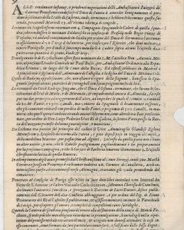ITALY / EARLY NEWSPAPERS    Milano, 27. Febraro 1664. 9