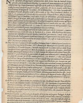 ITALY / EARLY NEWSPAPERS: Milano, 17. Agosto 1661. 33.