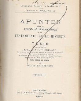 ARGENTINE MEDICAL THESES