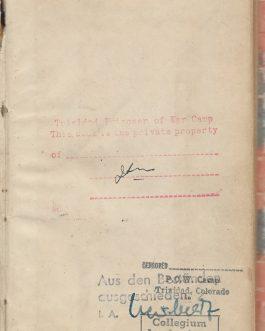 POW CAMP TRINIDAD, COLORADO: Gustav Adolfs Page. Feldpostausgabe