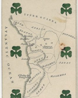 Angola, Congo, Gabon – Africa – CARTOGRAPHIC PLAYING CARD: 'Lower Guinea' from The Court Game of Geography.
