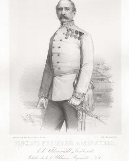 MINUTILLO: Vincenz Freiherr v. Minutillo, k. k. Feldmarschall Lieutenant, Inhaber des k. k. Uhlanen Regiments No. 3.