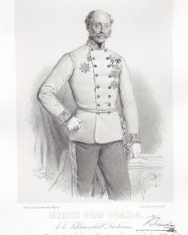 BRAIDA VON RONSECCO UND CORNIGLIANO: Moritz Graf Braida, k. k. Feldmarschall Lieutenant, Inhaber des k. k. Linien Infanterie Regiments No. 44