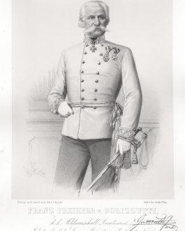 GORIZZUTI: Franz Freiherr v. Gorizzutti, k. k. Feldmarschall Lieutenant, Inhaber des k. k. Linien Infanterie Regiments No. 56