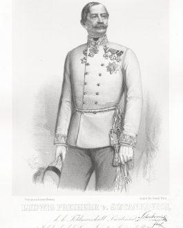 SZTANKOVICS: Ludwig Freiherr v. Stankovics, k. k. Feldmarschall Lieutenant, 2. Inhaber des k. k. Linien Infanterie Regiments No. 66