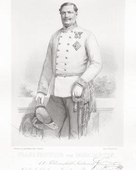 PAUMGARTTEN: Franz Freiherr von Paumgarten, k. k. Feldmarschall Lieutenant, Inhaber des k. k. Linien Infanterie Regiments No. 76