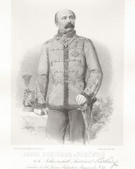 SOKCEVIC: Josef Freiherr v. Sokcevic, k. k. Feldmarschall Lieutenant, Inhaber des k. k. Linien Infanterie Regiments No. 78 u. der Banat Grenz Regimenter No 10 u. 11