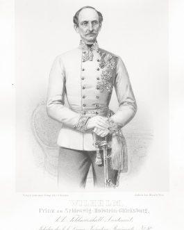 SCHLESWIG-HOLSTEIN-SONDERBURG-GLÜCKSBURG: Wilhelm Prinz zu Schleswig-Holstein-Glücksburg, k. k. Feldmarschall Lieutenant, Inhaber des k. k. Linien Infanterie Regiments No. 80