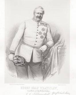 WRATISLAW VON MITROWITZ: Eugen Graf Wratislaw von Mitrowitz-Nettolitzky, k. k. Feldmarschall, 2. Inhaber des k. k. Cürassier Regiments No. 1