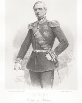 SACHSEN: Johann König von Sachsen, Inhaber des k. k. Cürassier-Regiments No. 3