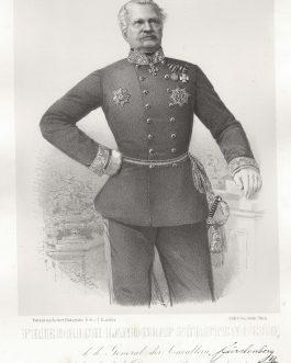 FÜRSTENBERG: Friedrich Landgraf Fürstenberg, k. k. General der Cavallerie, Inhaber des k. k. Dragoner-Regiments No. 1
