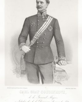 COUDENHOVE: Carl Graf Coudenhove, k. k. General Major, Inhaber des k. k. Dragoner-Regiments No. 2