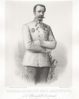 MONTENUOVO: Wilhelm Albrecht Graf v. Montenuovo, k. k. Feldmarschall Lieutenant, Inhaber des k. k. Huszaren-Regiments No. 5