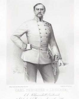 LEDERER: Carl Freiherr v. Lederer, k. k. Feldmarschall Lieutenant, 2. Inhaber des k. k. Huszaren-Regiments No. 10