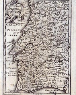 PORTUGAL: Regnum Portugalliae et Algarbiae cum finitimis Hispaniae Regni