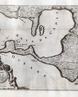 CADIZ: Isle, ville et port de Cadis en Espagne, de la province d'Andalousie