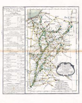 BELGIUM: IX.e Fle de l'Indicateur Fidele du Voyageur Francois, qui donne toutes les Routes des Provinces de Picardie