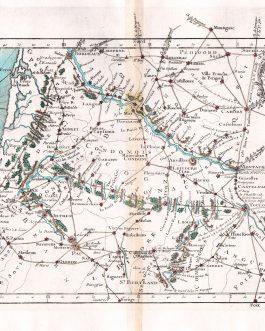 AQUITAINE: l'Indicateur Fidele du Voyageur Francois … Des grandes Routes de Paris a Toulouse et Bordeaux…