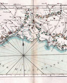 Côte d'Azur: XVIII F.le l'Indicateur Fidele du Voyageur Francois qui donne la continuation des Routes…