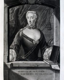 Émilie du CHÂTELET-LAUMONT: Aemilia de Breteuil Conjux Marchionis cu Chatellet
