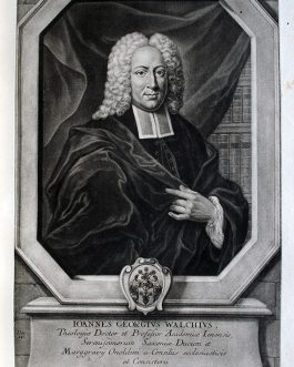 Johann Georg WALCH: Johannes Georgius Walchius