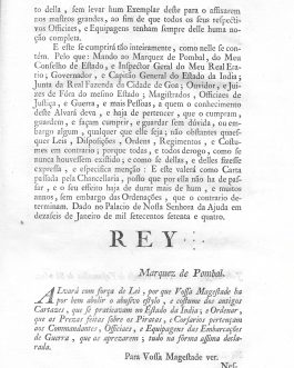 GOA, PORTUGUESE INDIA – PIRACY – POMBALINE LEGAL REFORMS – COLLECTION OF 4 ROYAL DECREES