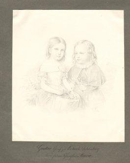 ERBACH-SCHÖNBERG: Gustav Graf zu Erbach Schönberg und seine Schwester Marie