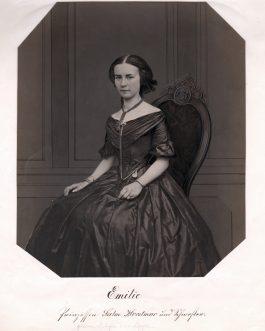 Emilie Prinzessin Salm-Horstmar und Schwester (geborene Gräfin zur Lippe)