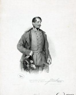 JABLONSKY DEL MONTE BERICO, Josef: Josef Ritter Jablonsky. Commandant des 10. Jäger Bataillons