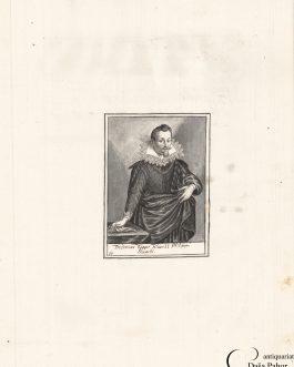 FUGGER – PORTRAIT: Fridericus Fugger Filius II Philippi Eduardi – Graf Friedrich Fugger (1586-1654), Herr zu Weißenhorn, Sohn des Philipp Eduard Freiherr Fugger (1546-1618)