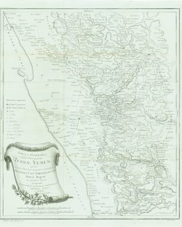 YEMEN: Tabula Itineraria sistens illam partem Terrae Yemen