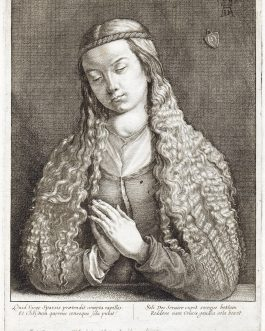 WENZEL HOLLAR – ALBRECHT DÜRER: Jungfrau mit offenem Haar – Woman with unloosened hair (after Dürer): Quid virgo sparsis