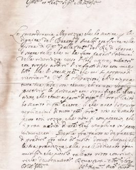 """STROZZI: Giovan Battista Strozzi, Brief mit Empfehlungsformel und Unterschrift """"Gio: Batta Strozzi"""", Rom 24. September 1639."""
