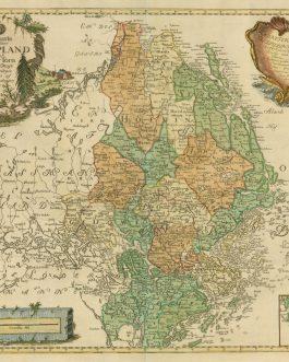 UPPLAND, SWEDEN: Charta öfwer Upland och Söder Törn. Med Kong. Maj.ts. Nådigste privilegio utgifven af Kongl. Landtmäteri Contoir
