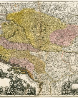 HUNGARY, CROATIA, SERBIA & BOSNIA: [Novissima et Accuratissima Hungariae cum circumjacentibus Regnis et Principatibus]
