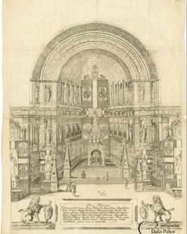 EINBLATTDRUCK/ CASTRUM DOLORIS: Piis Manibus Guilielmi. V. Comitis Palat. Rhen. Utr: Boiar. Ducis […].