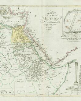 EGYPT / SUDAN / ETHIOPIA / RED SEA: Karte von Egypten Verfast von Herrn Robert Vaugondy, Geographen des Königs von Polen.