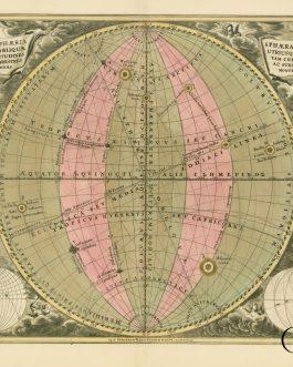 CELLARIUS. Haemisphaeria Sphaerarum Rectae Et Obliquae Utriusque Motus et Longitudines Tam Coelestes Quam Terrestres Ac Stellarum Affectiones