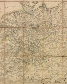POST-KARTE / POSTAL MAP: Neuste Post Karte von Deutschland und dessen angrenzenden Laender 1801.
