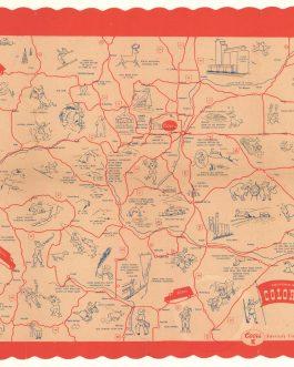 COLORADO: Souvenir Map of Colorado.