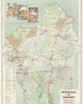DAHOMEY: Carte Routiere et Touristique. Dahomey.