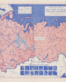 Canadian Map of the USSR (CCCP): News Fact Map of the Union of Soviet Socialist Republic.