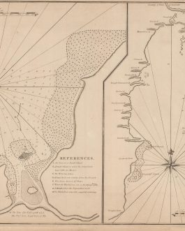 PIRATES / MADAGASCAR: [2 Charts on 1 Sheet:] Ambodifotatra, Nosy Boraha Island (Île Sainte-Marie) and Antongil Bay:  A Plan of the Principal Harbour & Town, of the Isl. S. Maries, Laying of the East Coast of the Isl. Madagascar in Lat. 17º 00'S. [and] The