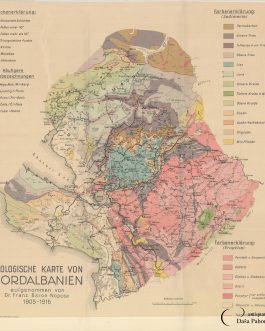 ALBANIA / GEOLOGY – ORIGINAL PUBLISHER'S PROOF: Geologis...