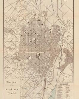 Chișinău, MOLDOVA. Stadtplan von Kischinew (Chișinău).