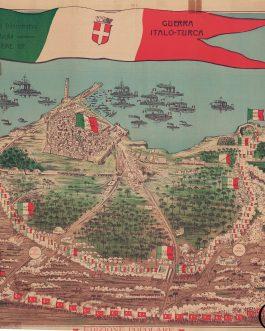TRIPOLI, LIBYA:  Bookseller Image Pianta panoramica dimostrativa della battaglia del 26 ottobre 1911. Guerra Italo-Turca.