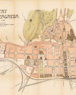 ZAGREB: Nacrt Grada Zagreba.